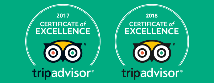 TripAdvisor Certificate of Excellence 2017-2018