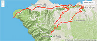 Isla Baja-Punta Teno Road bike tour map