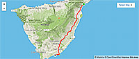 Tenerife bike rout map