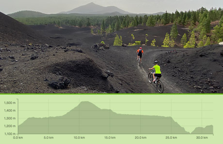 Guided MTB tours Arena Negra